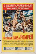 "Movie Posters:Adventure, The Last Days of Pompeii (United Artists, 1960). One Sheet (27"" X41"") & Lobby Card Set of 8 (11"" X 14""). Adventure.. ... (Total:9 Items)"