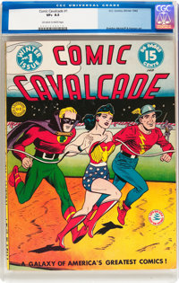 Comic Cavalcade #1 (DC, 1942) CGC VF+ 8.5 Off-white to white pages