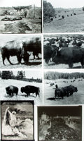 Books:Prints & Leaves, [Buffalo Hunting]. Group of Nineteen Reprint Photographs related tothe American Bison. Items published in or used as resear...