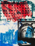 Prints, ROBERT RAUSCHENBERG (American, 1925-2008). People for the American Way, 1991. Lithograph and screenprint in colors. 48 x...