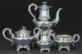 Silver Holloware, British:Holloware, A FOUR PIECE EDWARD, EDWARD JR, JOHN AND WILLIAM BARNARD VICTORIANSILVER AND SILVER GILT TEA AND COFFEE SERVICE, London, En...(Total: 4 )