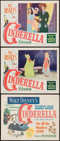 "Movie Posters:Animation, Cinderella (RKO, 1950). Title Lobby Card & Lobby Cards (2) (11""X 14""). Animation.. ... (Total: 3 Items)"
