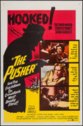 """Movie Posters:Exploitation, The Pusher (United Artists, 1960). One Sheet (27"""" X 41"""") &Lobby Card Set of 8 (11"""" X 14""""). Exploitation.. ... (Total: 9Items)"""