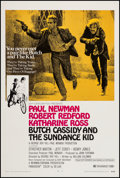 """Movie Posters:Western, Butch Cassidy and the Sundance Kid (20th Century Fox, 1969). One Sheet (27.25"""" X 40.75"""") Style B. Western.. ..."""