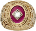 Baseball Collectibles:Others, 1946 St. Louis Cardinals World Series Championship Ring Presentedto Pitcher George Munger....
