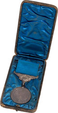 """Military & Patriotic:WWI, Cased Silver Lifesaving Medal Awarded to Hans Berg """"For BravelyRescuing a Shipmate"""", July 17, 1908.... (Total: 4 )"""