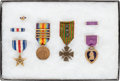 Military & Patriotic:WWI, Fantastic WWI Medal Group: Purple Heart and Silver Star Named to Harry M. Hayes....
