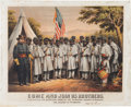 "Military & Patriotic:Civil War, Extremely Rare Civil War Recruitment Broadside Seeking African-American Soldiers: ""COME AND JOIN US BROTHERS.""..."