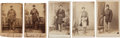 Photography:CDVs, Five Cartes-de-Visite of Standing Union Soldiers....