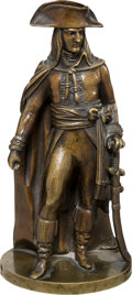 Military & Patriotic:Foreign Wars, Napoleonic Era French Soldier Bronze Statuette....