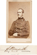 Photography:CDVs, Union General Solomon Meredith Carte de Visite and Clipped Signature....