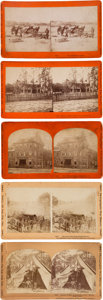 Photography:Stereo Cards, Five Civil War Stereoviews.... (Total: 5 )
