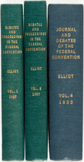 Books:Americana & American History, Jonathan Elliot. Three Mixed Volumes of The Debates,Resolutions, and Other Proceedings, in Convention, on the Adoption... (Total: 3 Items)