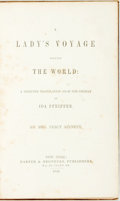 Books:Travels & Voyages, Pfeiffer, Ida: A LADY'S VOYAGE ROUND THE WORLD; A SELECTED TRANSLATION FROM THE GERMAN OF IDA PFEIFFER. BY MRS. PERCY SI...