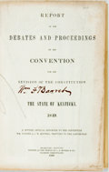 Books:Americana & American History, Kentucky: Report of the Debates and Proceedings of theConvention for the Revision of the Constitution of the State ofK...