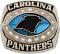 Football Collectibles:Others, 2003 Carolina Panthers NFC Championship Ring Presented to Greg Favors - With Presentation Box....