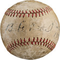 Autographs:Baseballs, 1924 Babe Ruth Single Signed Miniature Baseball....