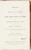 Books:Americana & American History, [U.S. Sanitary Commission]: NARRATIVE OF PRIVATIONS ANDSUFFERINGS OF UNITED STATES OFFICERS AND SOLDIERS WHILEPRISONER...
