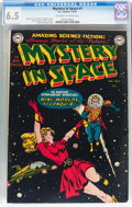 Golden Age (1938-1955):Science Fiction, Mystery in Space #1 (DC, 1951) CGC FN+ 6.5 Off-white to whitepages....