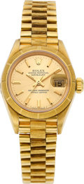 Timepieces:Wristwatch, Rolex Ref. 69000 Lady's Gold Oyster Perpetual Datejust, circa 1986....