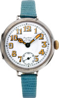 Timepieces:Wristwatch, Rolex Rare Early Wristwatch For Dunklings, circa 1920's. ...