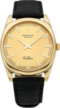 Timepieces:Wristwatch, Rolex Ref. 4243 Gent's 18k Gold Cellini, circa 2008. ...