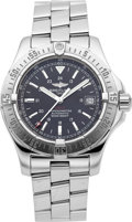 Timepieces:Wristwatch, Breitling A17380 Steel Areomarine Series Colt Automatic Chronometer. ...