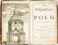 Books:Literature Pre-1900, Garth, Samuel, Sir. The Dispensary. A Poem In Six Canto's.The Fourth Edition, with Additions. London: John ...