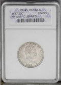 Coins of Hawaii: , 1883 25C Hawaii --Cleaned--ANACS. XF45 Details. NGC Census:(10/514). PCGS Population (23/978). Mintage: 500,000. (#10987)...