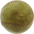 Autographs:Baseballs, 1930's Baseball Legends Multi-Signed Baseball with Ruth, Gehrig.Upon first glance, it would seem that this divine sphere d...