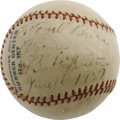 Autographs:Baseballs, 1937 Babe Ruth Single Signed Baseball. Less than two years after the great Bambino retired his mighty Hillerich & Bradsby, ...