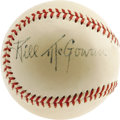 "Autographs:Baseballs, 1940's Bill McGowan ""Single Signed"" Baseball. Those legions ofcollectors chasing Hall of Fame singles almost certainly fin..."