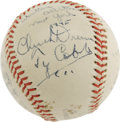 "Autographs:Baseballs, 1945 Ty Cobb Signed ""Esquire's All-America Game"" Baseball. Amateur baseball in the 1940's saw its greatest young stars pitt..."