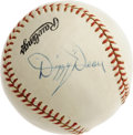 Autographs:Baseballs, 1950's Dizzy Dean Single Signed Baseball. Search high and low andyou'll find few singles that can hold a candle to the off...