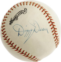 1950's Dizzy Dean Single Signed Baseball. Search high and low and you'll find few singles that can hold a candle to the...