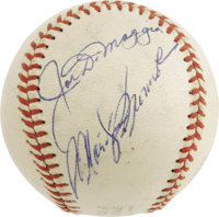 The Finest Known Joe DiMaggio & Marilyn Monroe Signed Baseball. Though the marriage of Joe and Marilyn was troubled...