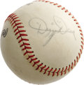 "Autographs:Baseballs, 1960's Dizzy Dean Signed Baseball. ""The good Lord was good to me,""Dizzy once said. ""He gave me a strong body, a good right..."