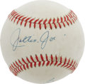 "Autographs:Baseballs, ""Joltin' Joe"" DiMaggio Single Signed Baseball. Unique OAL(MacPhail) ball offers something a little different for theautog..."