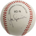 Autographs:Baseballs, 1970's Joe Cronin Single Signed Baseball. The Boston Red Sox star and American League president applies his bold black ink ...