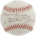 Autographs:Baseballs, 1972 Roberto Clemente Single Signed Baseball Commemorating 3,000th Hit. Absolutely exceptional single signed sphere is a du...