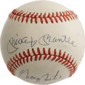 Autographs:Baseballs, Fifty Home Run Club Signed Baseball with Mantle. Unique concept ball assembles many of the game's top sluggers, each of who...
