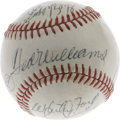 Autographs:Baseballs, Hall of Famers Multi-Signed Baseball with Mantle, DiMaggio &Williams. Likely signed at a 1970's Cooperstown event, this OA...