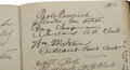 Autographs:Others, 1915 Artist's Guestbook with Exceptionally Rare Autograph from RayChapman. Those who participated in our October 2005 Sign...