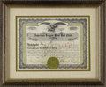 Autographs:Others, 1923 Chicago White Sox Stock Certificate Signed by Comiskey &Grabiner. Both instrumental figures in the most noteworthy sc...