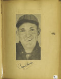 Autographs:Others, Amazing 1930's Child's Autograph Scrapbook with Rare Hall of Fame Signatures Franklin Young, the boy who compiled this wonde...