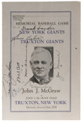 Autographs:Others, 1938 New York Giants Signed Program with Mel Ott. Truxton, NewYork, the birthplace of the great Hall of Fame manager John ...