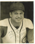 Autographs:Photos, Circa 1944 Jimmie Foxx Signed Photograph by Burke. Masterful image could only be the work of famed sports photographer Geor...