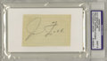 "Autographs:Others, Circa 1950's Jimmie Foxx Signed Cut Autograph, PSA Mint 9. A boldpencil ""J. Foxx"" autograph on a lined slip of paper comma..."
