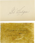 Autographs:Index Cards, Brooklyn Dodgers Signed Index Cards Lot of 43 with Branch Rickey, Gil Hodges. More Bums than a Bowery soup kitchen here, as...