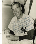 Autographs:Photos, 1960's Joe DiMaggio Signed Photograph to George Weiss. Arguably themost successful general manager in baseball history, Ha...